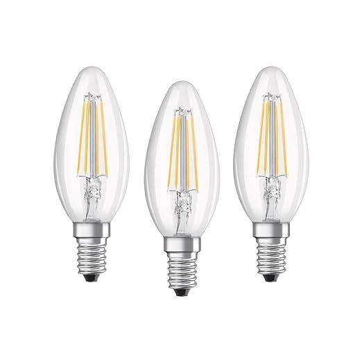 Osram 819313 Bombilla LED E14, 4 W, Blanco, 4 Unidades