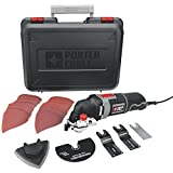 PORTER-CABLE PCE605K 3-Amp Corded Oscillating Multi-Tool Kit with 31 Accessories