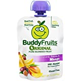 Buddy Fruits Mango / Passion Fruit / Banana, Pure Blended Fruit To Go, 3.2-Ounce (Pack of 18)