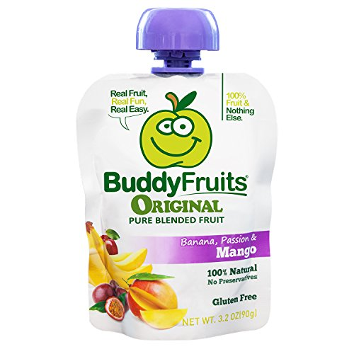 Buddy Fruits Mango / Passion Fruit / Banana, Pure Blended Fruit To Go, 3.2-Ounce (Pack of 18) by Buddy Fruits (Image #8)