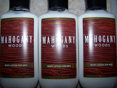 Lot of 3 Bath Body Works Mahogany Woods For Men Body Lotion 8 fl oz each Mahogany Woods