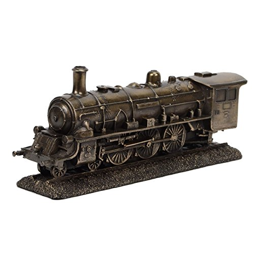 TreasureGurus, LLC Bronze Metal Steam Locomotive Model Die Cast Train Engine Replica