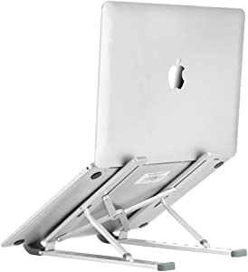 Lontree Laptop Stand, Multi-Angle Adjustable Aluminum Lightweight Ergonomic Foldable Storage Desktop Stand Compatible with All Laptop Tablets(Portable Storage Bag)
