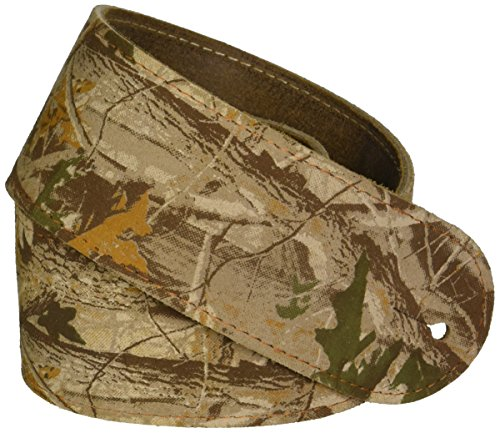 LM Products BW-2 Leather Camo Guitar Strap