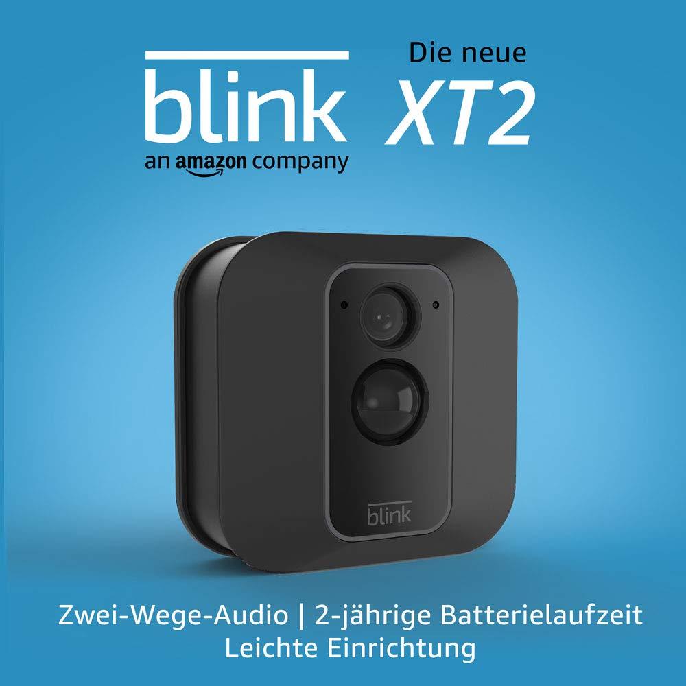 Die neue Blink XT2 – Smarte Sicherheitskamera | Für den Außen- und Innenbereich mit Cloud-Speicher, Zwei-Wege-Audio und 2-jähriger Batterielaufzeit | System mit einer Kamera