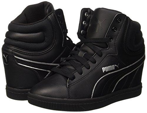 Puma Vikky Wedge L FS Sneaker à talon compensé - noir - noir/argent, 41 EU EU