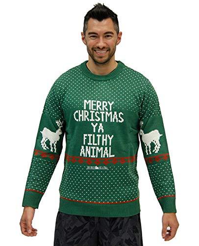 (Home Alone Merry Christmas Ya Filthy Animal Ugly Christmas Sweater (Green,)