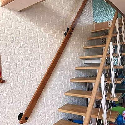 YANGSANJIN Escalera de barandilla pasamanos y Antideslizante de Madera pasamano de la Escalera, hogar contra la Pared Interior Loft Ancianos Pasamanos Pasamanos Corredor Barra Soporte, conven: Amazon.es: Deportes y aire libre