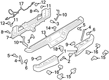Genuine Ford 9L3Z-17D826-B Trailer Tow Hitch Assembly