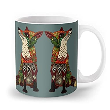 Society6 Fox Love Juniper Mug 11 oz