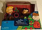 PEANUTS CHARLIE BROWN CHRISTMAS LUCY AND CHARLIE THE DOCTOR IS IN PSYCHIATRIST'S BOOTH WITH ACTION FIGURES