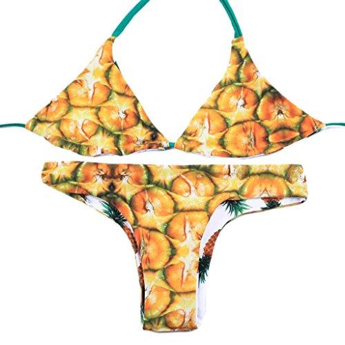 Traje de baño de moda piña de doble cara de desgaste de Split bikini spa traje de baño playa de traje de baño Multi - color