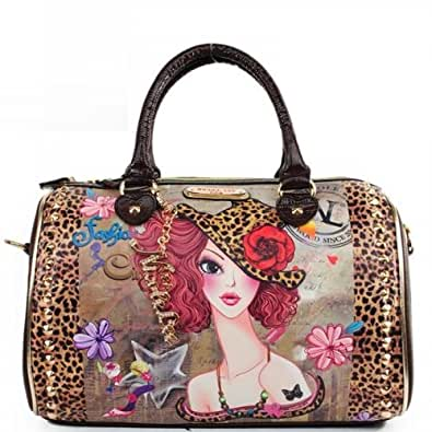 Mens Clothing Subscription >> NICOLE LEE TINA PRINTED BOSTON PURSE FASHION STUDDED WOMEN HANDBAG: Handbags: Amazon.com