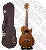 Oscar Schmidt Acoustic/Electric Baritone Ukulele w/ Case, All Koa Wood, OU55CE