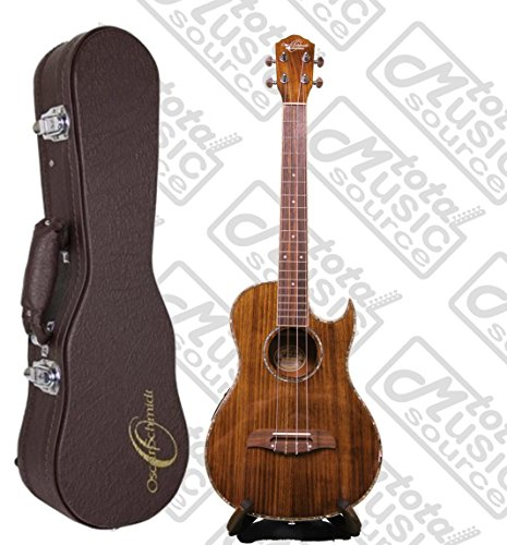 Oscar Schmidt Acoustic/Electric Baritone Ukulele w/ Case, All Koa Wood, OU55CE by Oscar Schmidt