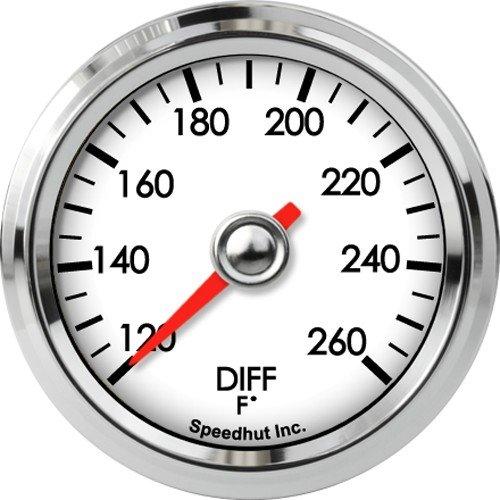 Speedhut GL20-DT01 Diff Temperature Gauge 120-260F, 2-1/16'' by SpeedHut