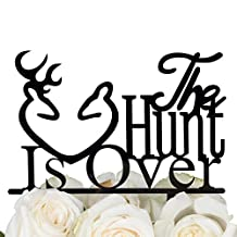 LOVENJOY CA The Hunt is Over Wedding Cake Topper Black