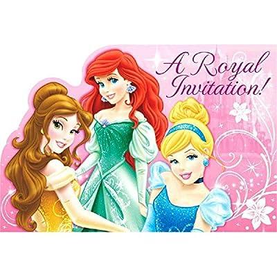 Amazoncom Disney Princess Sparkle Birthday Party Invitations Card