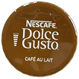 NESCAFÉ Dolce Gusto Coffee Capsules – Café Au Lait – 48 Single Serve Pods, (Makes 48 Cups)      48 Count