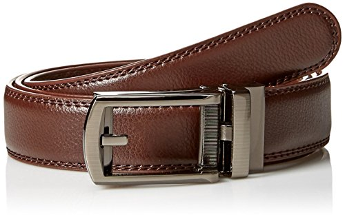 Comfort Click Men's Adjustable Perfect Fit Leather Belt-As Seen on TV, Brown, One Size