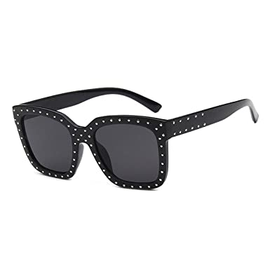 97875dff97e Image Unavailable. Image not available for. Colour  Back Packers New  Personality Square Rivet Sunglasses Men Women Retro Trend Eyelasses Fashion  Big ...