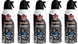 Dust-Off Disposable Compressed Gas Duster mkOLui, 5Pack (Can 10oz.)