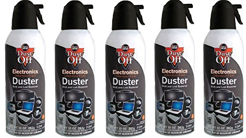 Dust-Off Disposable Compressed Gas Duster mkOLui, 5Pack (Can 10oz.) by Dust-Off