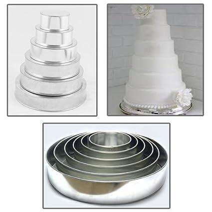 Euro Tins molde Redondo para tarta de boda de 6 pisos - juego de 6