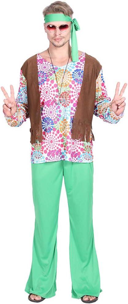 EraSpooky Disfraz de Hippie de los Años 60 para Hombre Cosplay ...
