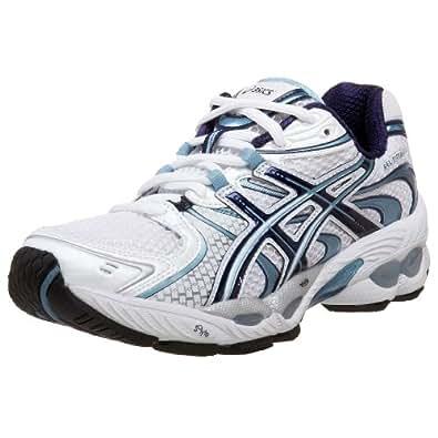 ASICS Women's GEL-Nimbus 11 Running Shoe,White/Navy/Ice Blue,7.5 AA US