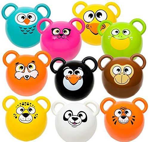 5'' VINYL ANIMAL BALLS, Case of 2 by DollarItemDirect
