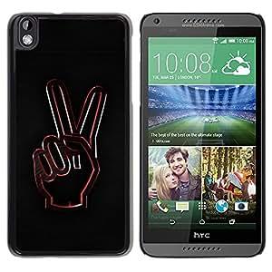 """For HTC DESIRE 816 , S-type Paz Gesto de mano"""" - Arte & diseño plástico duro Fundas Cover Cubre Hard Case Cover"""