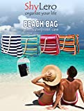 """Beach Bag XL with 100% Waterproof Phone/Tablet Case, Cotton Rope Handles, Top Zipper, Extra Outside Pocket. Premium Shoulder Beach Tote has Built-In Keyholder, Bottle Opener - L22""""xH15""""xW6"""""""