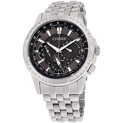 Citizen Calendrier Grey Dial Stainless Steel Men's Watch BU2080-51H