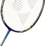 Yonex Badminton Racket Nanoray Series 2018 with Full Cover Professional Graphite Carbon Shaft Light Weight Competition Racquet High Tension Fast Speed Performance (NR6000I - Blue, Pack of 1)