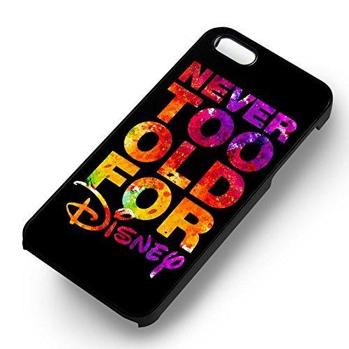 Walt Disney Quotes Never Too Old pour Coque Iphone 6 et Coque Iphone 6s Case (Noir Boîtier en plastique dur) J6B5LT