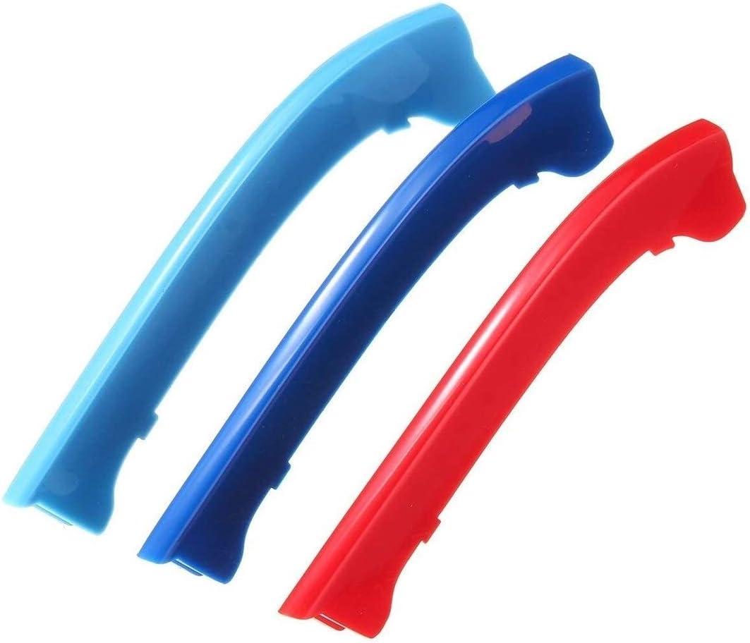 JUZZQ Clip En La Rejilla Inserciones De Color Rejilla Delantera Ajuste De La Cubierta Compatible For BMW F39 X2 2018 M Power M Sport Tech Capo De La Capilla del Ri/ñ/ón Rayas Cubierta