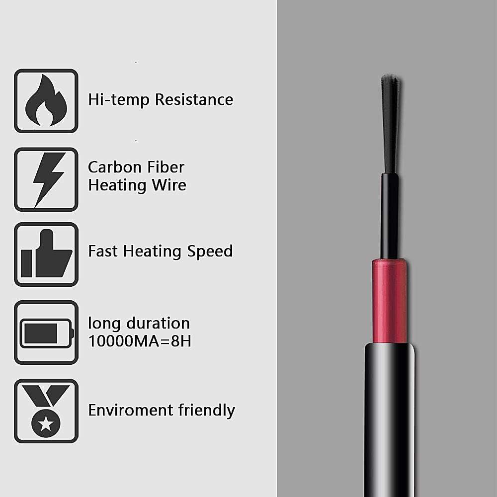 SKYSPER Chaleco T/érmico para Hombres y Mujeres Chaleco Calefactable Calentador El/éctrico Chaquetas con Cable USB Chaleco El/éctrico de Invierno Lavable con Guante para Esqu/í Monta/ñismo Camping