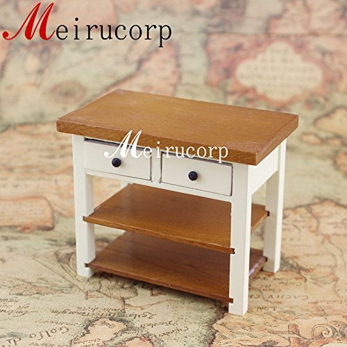 Meirucorp Fine 1/12 Scale Miniature Furniture Well Made Wooden Elegant Lovely Small Table