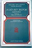img - for Julio Rey Pastor, matematico (Coleccion Cultura y ciencia) (Spanish Edition) book / textbook / text book