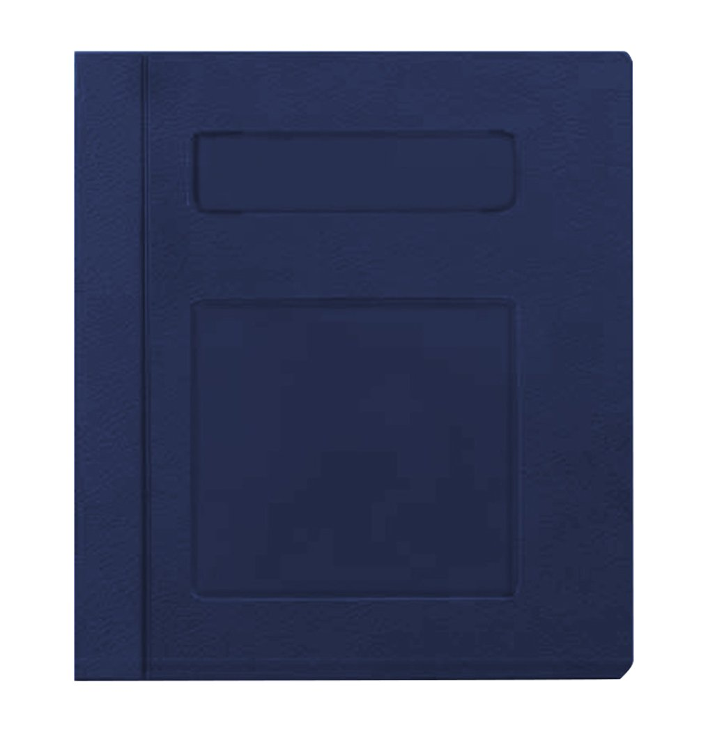 PDC Healthcare CBS17NB Poly Binder, Side Open, 3-Ring, ''Patient Record'', 3'', Navy Blue