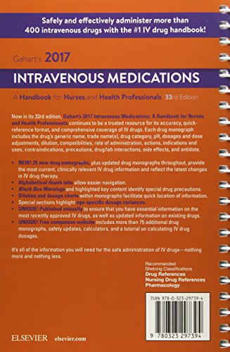 2017 Intravenous Medications: A Handbook for Nurses and Health Professionals