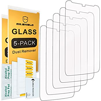 [5-PACK]- Mr Shield For Motorola Moto Droid Turbo [Tempered Glass] Screen Protector [0.3mm Ultra Thin 9H Hardness 2.5D Round Edge] with Lifetime Replacement ...