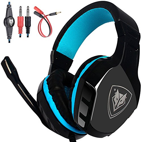 NO-3000 Surround Stereo Professional Gaming Headset Over-the-Ear Noise Isolating Bass Headphones with Microphone Volume Control for PC, Computer, Smartphones, Laptop, PS4,iPad