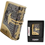 Zippo Helm Gold Lighter Made in USA /GENUINE and ORIGINAL PackingZippo Helm Gold Lighter Made in USA /GENUINE and ORIGINAL Packing