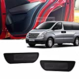 Carbon Door Protect Anti Scratch Cover Kick Fabric Decal Sticker Carbon Black For HYUNDAI Starex i800 2007 2008 2009 2010 2011 2012 2013 2014 2015