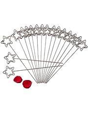 Yosoo Foto Sostenedor de la Nota Soporte de Navidad Memo Pinza de Clip DIY Crafts Soporte Metálico para la Tarjeta de Memo imágenes de la Boda Decoración 50 Piezas por Bolsa (Estrella)
