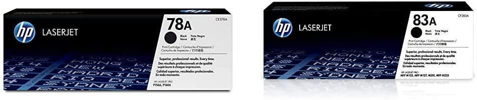HP 78A | CE278A | Toner Cartridge | Black & 83A | CF283A | Toner Cartridge | Black