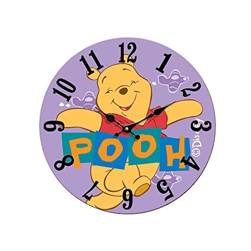 12 Inch Winnie the Pooh Vintage Wall Clock MDF Wooden Art Decorative for Children's Room (Clock The Winnie Pooh)