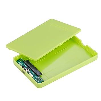 ASHATA Carcasa Disco Duro SSD/SATA USB 2.0/1.1(480Mbps),Caja de HDD Externo 2.5